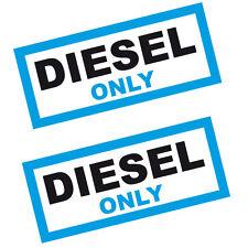 2 x Diesel Fuel Reminder Vinyl Stickers  76mm Car Taxi Van & Bus. Premium Vinyl