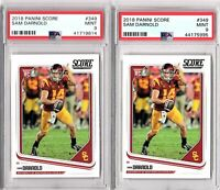 2018 Panini Score #349 Sam Darnold Rookie Lot (2 Cards) PSA MINT 9