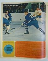 1964 Full Star Weekly Magazine NHL Toronto Maple Leafs Allan Stanley