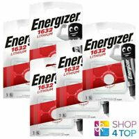 5 Energizer CR1632 Lithium Batteries 3V Cell Coin Bouton Exp 2029 Neuf