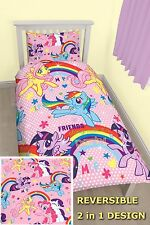 NEW OFFICIAL MY LITTLE PONY EQUESTRIA SINGLE DUVET COVER BED SET KIDS BEDDING ML