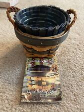 1998 Longaberger Collector's Club Thyme Booking Basket - Liner, Protector