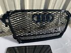 For Audi A4 S4 B8.5 RS4 Style 2013-2015 2014 Mesh Grille Front Grill w/ Quattro photo