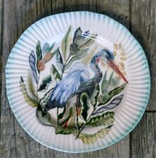 "Anthropologie Snack Plate Pelican Blue 8.5"" Home of Dodo NWT"
