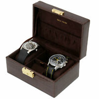 TS0629BRN- Travel Case for Watches Cufflinks Jewelry