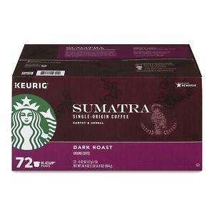 KEURIG STARBUCKS SINGLE-ORIGIN SUMATRA DARK ROAST  COFFEE K-CUPS 72 COUNT DEAL!!