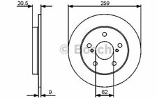 BOSCH Disco de freno (x1) 259mm TOYOTA COROLLA AURIS 0 986 479 418