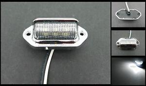 (1) Chrome 6 LED Surface License Plate Light Tag Interior Step Trailer Truck RV