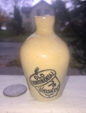 "miniature Adverting Whiskey Jug "" Old Continental Whiskey"" Acorn Cobalt Graphic"