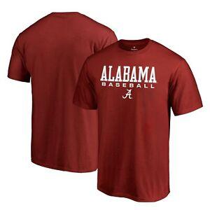 Alabama Crimson Tide Fanatics Branded True Sport Baseball T-Shirt - Crimson