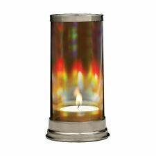 Hand Blown Crystal Rainbow Prism Hurricane Lantern Tea Light Candle Holder