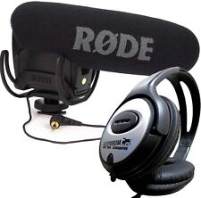 Rode Videomic Pro Rycote Kamera Richtmikrofon +KEEPDRUM Kopfhörer