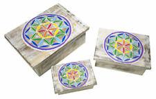 Cajas de almacenaje multicolores de madera para el hogar