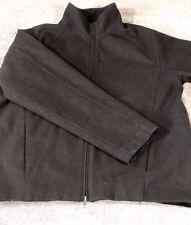 Express Men's Wool Blend Coat Zip Jacket Pea Dark Gray Warm Lined Classic Sz XL