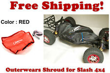 Traxxas Slash 4X4 ESC Receiver Chassis Shroud by Outerwears 20-2601-03 RED