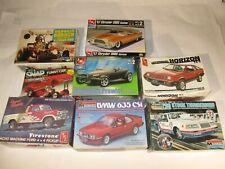 (8) Vintage Model Car Kits, (3) Sealed Kits, (5) Open Box, but complete