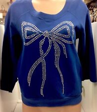 See By Chloe Sweater Royal Blue Size 4 Crystal Bow