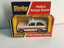 VINTAGE DINKY 254 RANGE ROVER CLASSIC POLICE MOTORWAY PATROL CAR.CHROME WHEELS