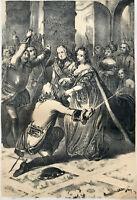 """MARIA THERESIA: """"HOCHSINN DER ÖSTERREICHER"""" 1849 ORIG.-LITHOGRAPHIE A.ZIEGLER"""