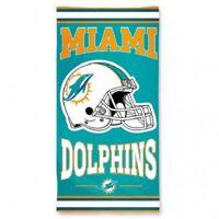 NFL Miami Dolphins Beach and Bath Towel 30 x 60 inches team logo