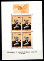 Gabun 1968 Mi. Bl. 9 Block 100% Postfrisch Tod von K. Adenauer