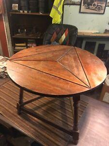 Triangular Drop Leaf Table