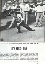 BOCCE BALL 1949 NEW YORK PICTORIAL FEATURE ITALIAN IMMIGRANTS * STAN LEE PHOTOS
