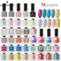 74 Colors BORN PRETTY Holographisch Nagellack Glitter Magnet Nail Art Polish 6ML