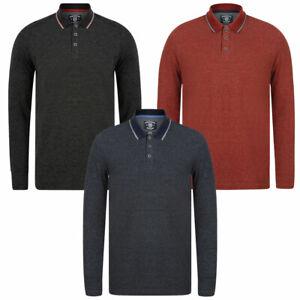 Kensington Eastside Men's Jupe Cotton Pique Long Sleeve Polo Shirt T-Shirt Top