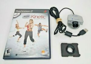 Sony PlayStation 2 PS2 Eye Toy Kinetic Game & Camera Bundle - Tested Working!