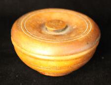 NEW PRICE Antique Lathe Turned Wooden Salt Box