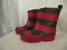 BNWT Little Girls Sz 9 Rivers Doghouse Brand Cute Pink/Choc Mid Length Gumboots