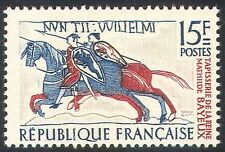 France 1958 Horses/Cavalry/Military/Bayeux Tapestry/Weaving/Sewing 1v (n33120)