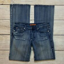 Vigoss Jeans Size 5/6 Juniors Boot Cut Medium Wash Sandblasted Denim Stretch