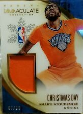 AMAR'E STOUDEMIRE 2013-14 Panini Immaculate Christmas Day Jersey Shorts 85 Amare