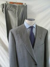 OXXFORD CLOTHES Bergdorf Goodman gray classic two 2 button suit 44 48R