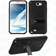 Blk Soft TPU Blk Hard Bak Case SAMSUNG i317 i605 L900 T889 R950 Galaxy Note II 2