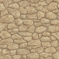Sepia Taupe Creek Rock on Easy Walls Wallpaper HTM49432