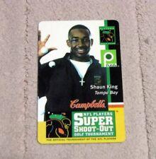 Campbells NFL Players Super Shoot-Out Golf Tornament SHAUN KING Donation Card