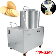 1500W Kitchen Commercial Automatic Sweet Potato Peeling Cleaning Machine 110V