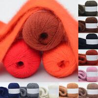 50g Gloves Soft Long Mink Wool Yarn Women Sweater Hand Hat Woven Knitting Gift