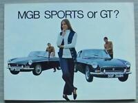 MG MGB SPORTS & GT Car Sales Brochure Oct 1969 #2652