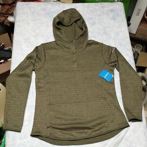 NWT WOMENS COLUMBIA ROSENBLUM Pullover Hoodie Hooded Jacket Green  Sz XL