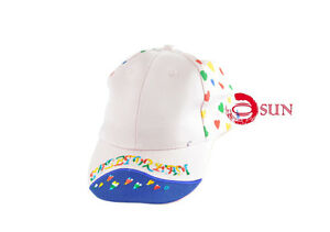 Kids Girls Cartoon Adjustable Baseball Cap Pink Heat Pattern Summer Sun Hats