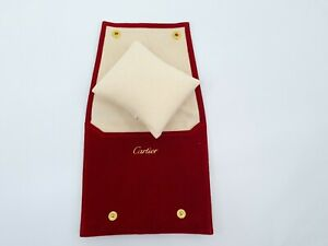100% Authentic Cartier Watch Travel Pouch Service Case With Cushion