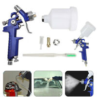 HVLP Mini Spray Paint Gun Automotive Refinish Spray Gun 1.0 mm Gravity Feed Kit