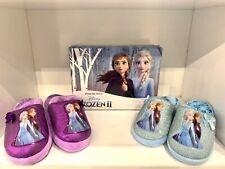 Ciabatte Pantofole bambina frozen elastico tallone argento viola dal 23 al 30