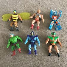 Original He Man Figures = He-Man Skeletor Rokkon Man-at-Arms  Buzz-Off Tri-Clops