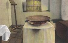 Antique POSTCARD c1907-20 Baptismal Font SAN GABRIEL, CA 17079