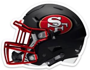 San Francisco 49ers Classic Football Helmet w/ 49er Logo Die-cut MAGNET